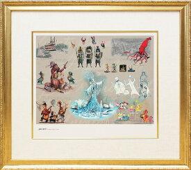 マーク デイヴィス「ディズニーランド ライド コンセプトアート」展示用フック付限定99部ジークレ プレゼント ギフト 絵画 インテリア