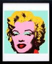 アンディ・ウォーホル「マリリン・モンロー(オン ブルー グラウンド)1967」展示用フック付ポスター ポップアート【イ…