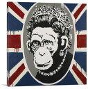 バンクシー「モンキー クイーン/Monkey Queen」キャンバスジークレ【インテリア】【絵画インテリア】【Banksy】