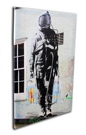 バンクシー「宇宙飛行士のショッピング/Shopping Astronaut(S)」キャンバスジークレ プレゼント ギフト 各種お祝い 誕生日【インテリア】【絵画インテリア】【Banksy】