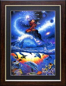 ラッセン ディズニー ポスター「ミッキーマウス/ソーサラー・オブ・ザ・シーズ」アート 絵画 インテリア Disney