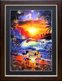 ラッセン ディズニー ポスター「ミッキー ミニー/シーサイド・ロマンス」アート 絵画 インテリア Disney