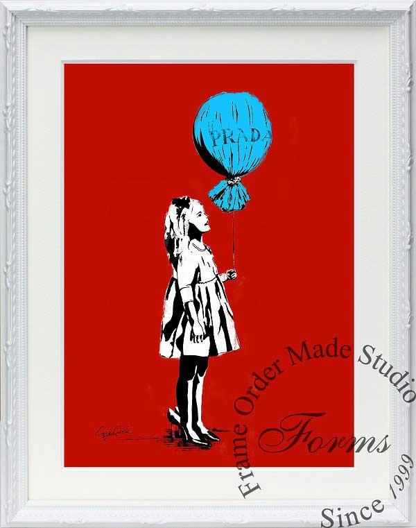 絵画 インテリア ブランドオマージュアート/クレイグ・ガルシア「プラダ/ロング・エイジd(W)」ポスター ポップアート プラダ オマージュ