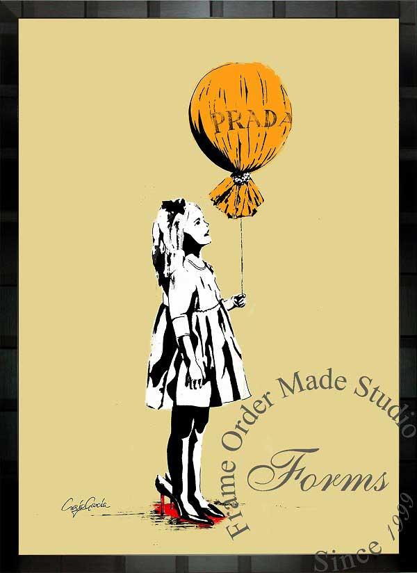 絵画 インテリア ブランドオマージュアート/クレイグ・ガルシア「プラダ/ロング・エイジe」ポスター ポップアート プラダ オマージュ