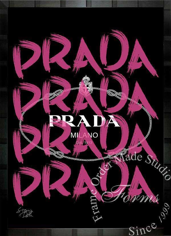 絵画 インテリア ブランドオマージュアート/スターデザイン「プラダ/Prada Marfa」ポスター ポップアート プラダ オマージュ