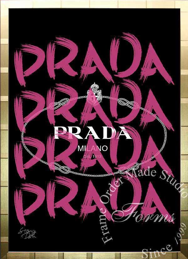 絵画 インテリア ブランドオマージュアート/スターデザイン「プラダ/Prada Marfa(G)」ポスター ポップアート プラダ オマージュ