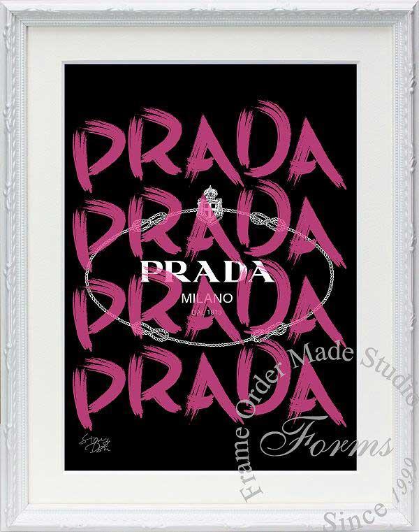 【絵画インテリア】ブランドオマージュアート/スターデザイン「プラダ/Prada Marfa(W)」ポスター【インテリア】【ポップアート】【プラダ】【オマージュ】【パロディ】