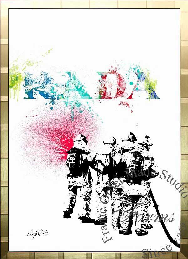 絵画 インテリア ブランドオマージュアート/クレイグ・ガルシア「プラダ/リペイント(G)」ポスター ポップアート プラダ オマージュ