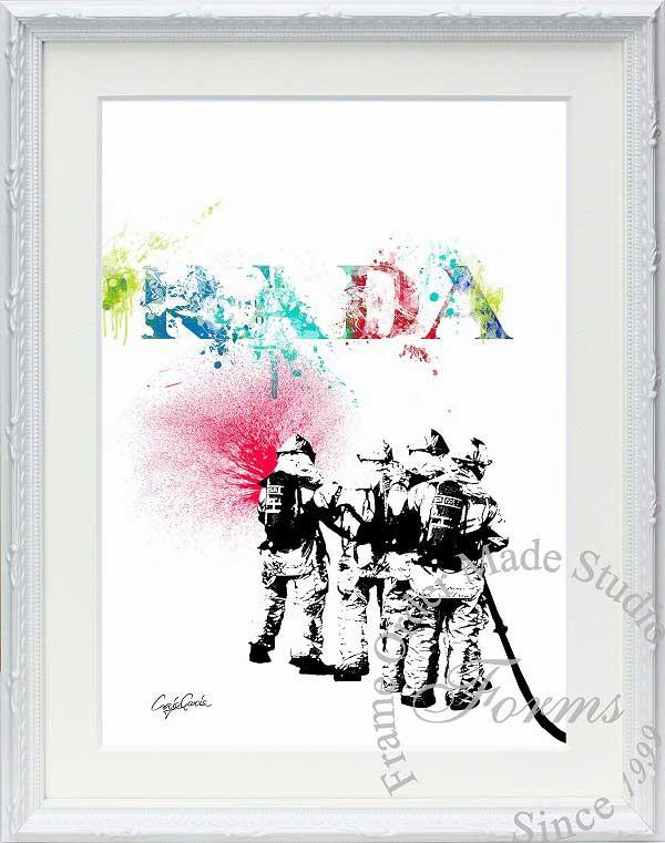 絵画 インテリア ブランドオマージュアート/クレイグ・ガルシア「プラダ/リペイント(W)」ポスター ポップアート プラダ オマージュ