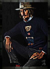 絵画 インテリア ブランドオマージュアート/スターデザイン「ラルフローレン×ジョニー・デップ」A1ポスター