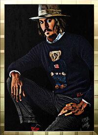 絵画 インテリア ブランドオマージュアート/スターデザイン「ラルフローレン×ジョニー・デップ(G)」A1ポスター