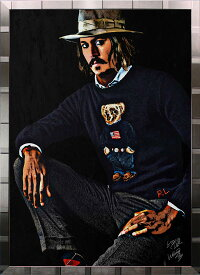 絵画 インテリア ブランドオマージュアート/スターデザイン「ラルフローレン×ジョニー・デップ(S)」A1ポスター