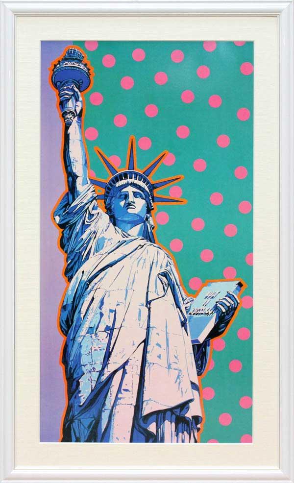 ヒロ・ヤマガタ「フリーダム(水玉)」自由の女神展示用フック付アートポスター【インテリア】【アート】【ヒロヤマガタ】【ヒロ ヤマガタ】【絵画インテリア】