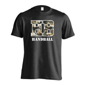 【送料無料】ミリタリー風 Handball ハンドボールTシャツ 半袖プレミアムドライ 全8色 130cm-XXXL ARTWORKS-KOBE (アートワークス神戸)