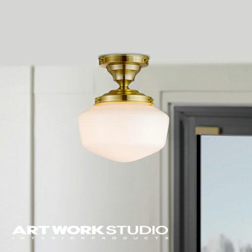 【アートワークスタジオ公式】【ポイント10倍】シーリングランプ ガラスシェード おしゃれ 6畳 アメリカ レトロEast college-ceiling lamp(S) イーストカレッジシーリングランプ(S)