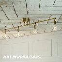 【アートワークスタジオ公式】【ポイント10倍】 ARTWORKSTUDIO アートワークスタジオ Laiton 4-ceiling lamp レイトン4シーリングランプ 4灯 E26 60W 電球別売 ソケットのみ LED対応 おしゃれ バータイプ シック レトロ ニューヨーク シャビー デザイン カフェ