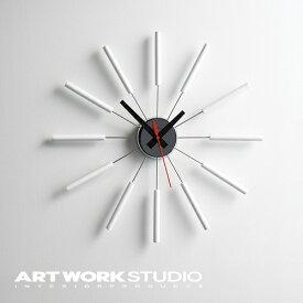 【ポイント10倍】壁掛け時計 ARTWORKSTUDIO アートワークスタジオ Atras アトラス スイーブムーブメント 電池式 直径51cm 木製【アートワークスタジオ公式】