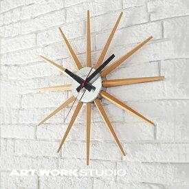 【ポイント10倍】壁掛け時計 ARTWORKSTUDIO アートワークスタジオ Atras 2-clock アトラス2クロック スイーブムーブメント 電池式 直径46.5cm 木製 おしゃれ アメリカン ミッドセンチュリー【アートワークスタジオ公式】