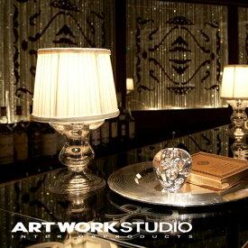 【アートワークスタジオ公式】【ポイント10倍】 ARTWORKSTUDIO アートワークスタジオ Victoria-glass stand ビクトリアグラススタンド テーブルランプ 1灯 E17 40W 布シェード シャンデリア ガラス LED対応 スタンドライト おしゃれ アンティーク