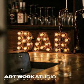 【ポイント10倍】置き型マーキーライト ARTWORKSTUDIO アートワークスタジオ BAR sign バーサイン サインライト 置き型 スチール製 床置き照明 看板 インテリア アイアン ブルックリン NYスタイル 【アートワークスタジオ公式】