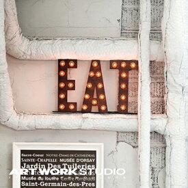【ポイント10倍】置き型マーキーライト ARTWORKSTUDIO アートワークスタジオ EAT sign イートサイン サインライト 置き型 スチール製 床置き照明 看板 インテリア アイアン ブルックリン NYスタイル【アートワークスタジオ公式】