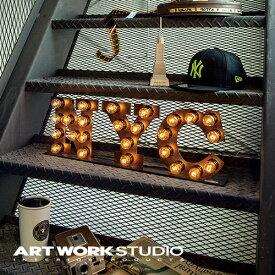 【ポイント10倍】置き型マーキーライト ARTWORKSTUDIO アートワークスタジオ NYC sign ニューヨークシティーサイン サインライト 置き型 スチール製 看板 インテリア アイアン ブルックリン NYスタイル【アートワークスタジオ公式】