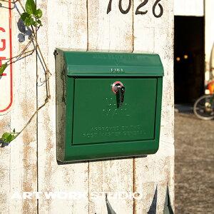 【ポイント10倍】壁掛けポスト ARTWORKSTUDIO アートワークスタジオ U.S. Mail box ユーエスメールボックス エンボス文字あり 鍵付き A4サイズ投函可 スチール製 おしゃれ レトロ アメリカン シンプ
