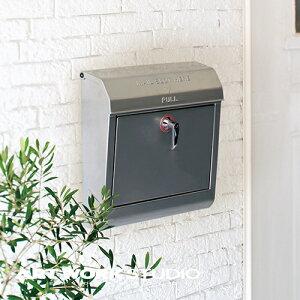【ポイント10倍】壁掛けポスト ARTWORKSTUDIO アートワークスタジオ Mail box メールボックス エンボス文字なし 鍵付き A4サイズ投函可能 スチール製 おしゃれ レトロ アメリカン シンプル【アート