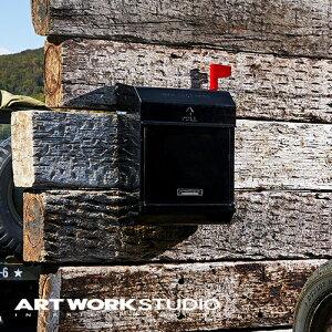 【ポイント10倍】壁掛けポスト ARTWORKSTUDIO アートワークスタジオ Mail box 2 メールボックス2 郵便ポスト(エンボス文字なし) ダイヤル式ロック フラグ付き スチール製 A4サイズ投函可 おしゃ