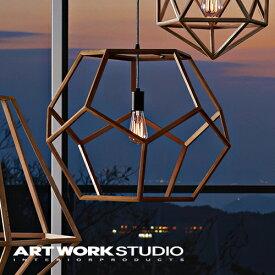 【アートワークスタジオ公式】【ポイント10倍】 ARTWORKSTUDIO アートワークスタジオ Primo wood-pendant (L) プリモウッドペンダント (L) ペンダントライト 1灯 E26 60W 木製フレーム LED対応 おしゃれ 北欧 ミッドセンチュリー 玄関 リビング ダイニング
