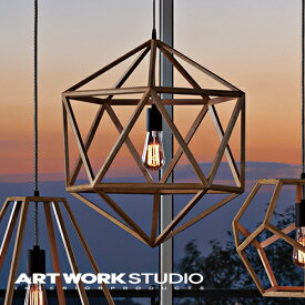 【アートワークスタジオ公式】【ポイント10倍】 ARTWORKSTUDIO アートワークスタジオ Anagram wood-pendant (L) アナグラムウッドペンダント (L) ペンダントライト 1灯 E26 60W 木製フレーム LED対応 おしゃれ 北欧 ミッドセンチュリー 玄関 リビング ダイニング