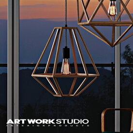 【アートワークスタジオ公式】【ポイント10倍】 ARTWORKSTUDIO アートワークスタジオ Pandora wood-pendant (S) パンドラウッドペンダント (S) ペンダントライト 1灯 E26 60W 木製フレーム LED対応 おしゃれ 北欧 ミッドセンチュリー 玄関 リビング ダイニング