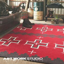 【アートワークスタジオ公式】【ポイント10倍】 ARTWORKSTUDIO アートワークスタジオ Native rug / Cross(S) ネイティブラグ / クロス柄(S) 80x50cm 厚さ1cm ネイティブアメリカン柄 パイル アクリル ラグマット オールシーズン おしゃれ エスニック
