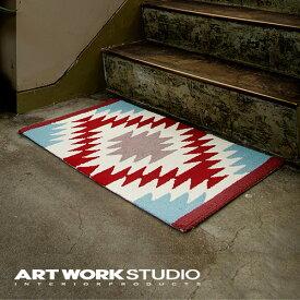 【アートワークスタジオ公式】【ポイント10倍】 ARTWORKSTUDIO アートワークスタジオ Native rug / Ganado(S) ネイティブラグ / ガナード柄(S) 80x50cm 厚さ1cm ネイティブアメリカン柄 パイル アクリル ラグマット オールシーズン おしゃれ エスニック