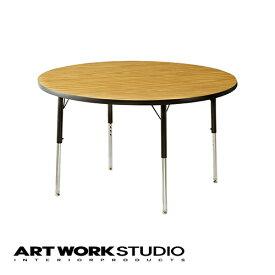 【アートワークスタジオ公式】【ポイント10倍】 VIRCO バルコ 4000 Table Round (M) 4000テーブル ラウンド (M) ダイニングテーブル 丸テーブル 直径122cm 圧縮合板 木目 おしゃれ 食卓 アメリカンテイスト 高さ調整可能