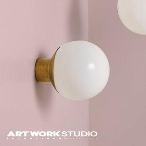 【アートワークスタジオ公式】ARTWORKSTUDIOAW-0514 Groove-wall lamp グルーブウォールランプ ウォールランプ 1灯 E26 40W ガラス スチール 真鍮 専門業者取付 密閉器具対応型LED対応 おしゃれ 丸 ダイニ