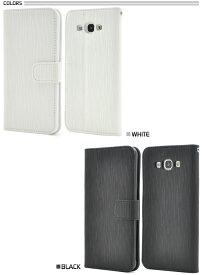 【メール便送料無料】Galaxy A8 SCV32 手帳型スマホケース スマホカバー ヘアライン 型押し ストレート レザー 手帳ケース 手帳型 スマホケース 手帳型ケース ブルー ギャラクシー Samsung サムスン スマートフォンケース シンプル PU レザー ブック型