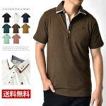 ポロシャツメンズ半袖2枚衿鹿の子チェックストライプ【B2O】【送料無料】【ゆうパケット】【メンズ】【mens】