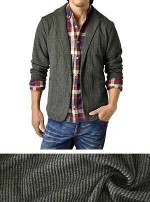 テーラードジャケット_カットアウター_カットソー素材【D2L】【送料無料】【ゆうパケット】【メンズ】