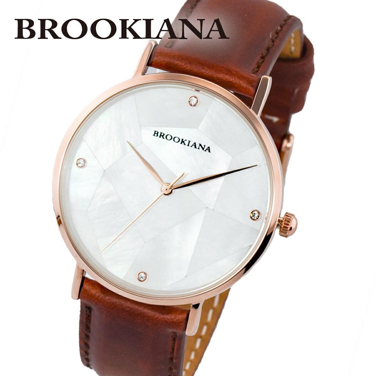 ブルッキアーナ BROOKIANA ROUND SLIM PEARL BA3101-RPWLBR メンズ 時計 腕時計 クオーツ