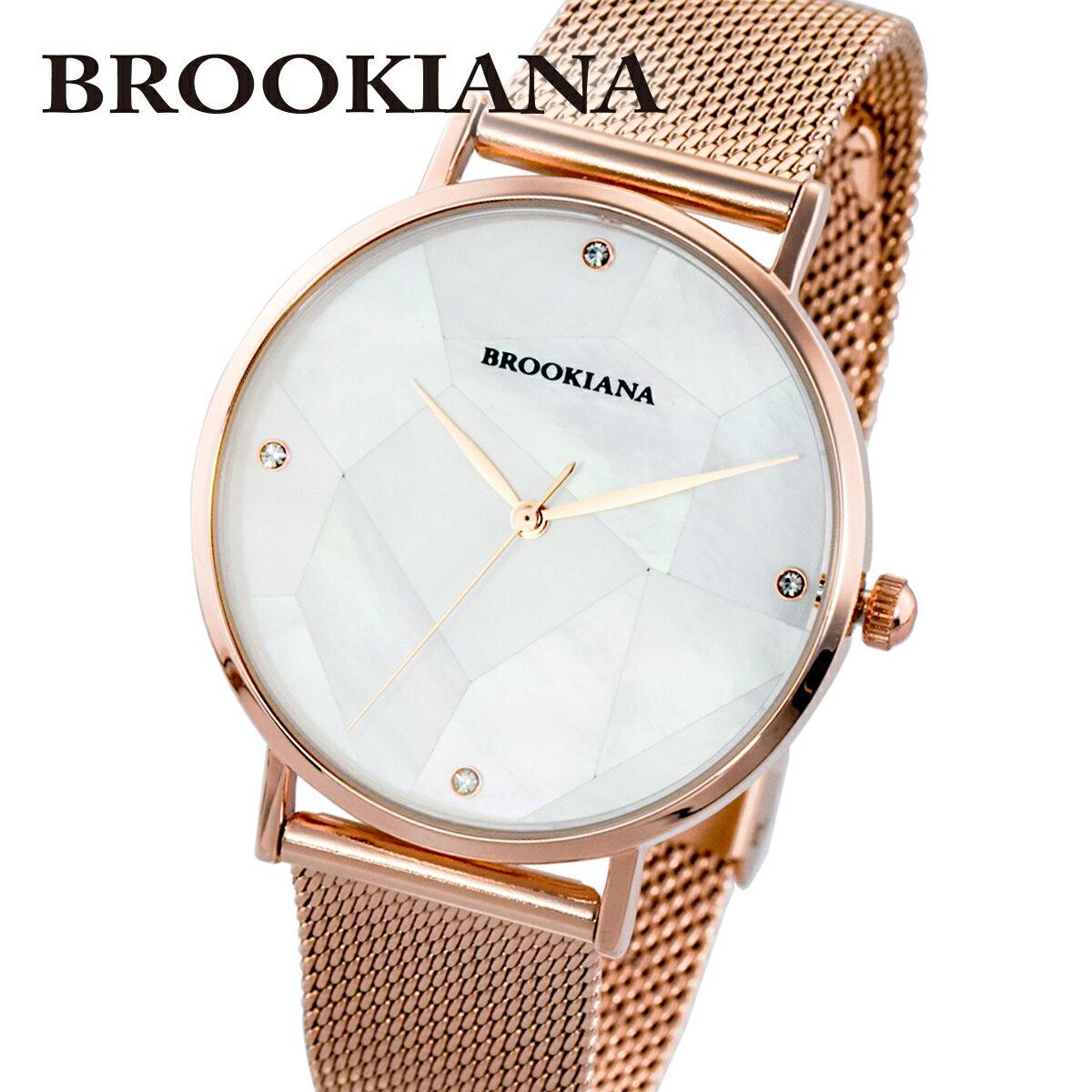 ブルッキアーナ BROOKIANA ROUND SLIM PEARL BA3101-RPWMRG メンズ 時計 腕時計 クオーツ