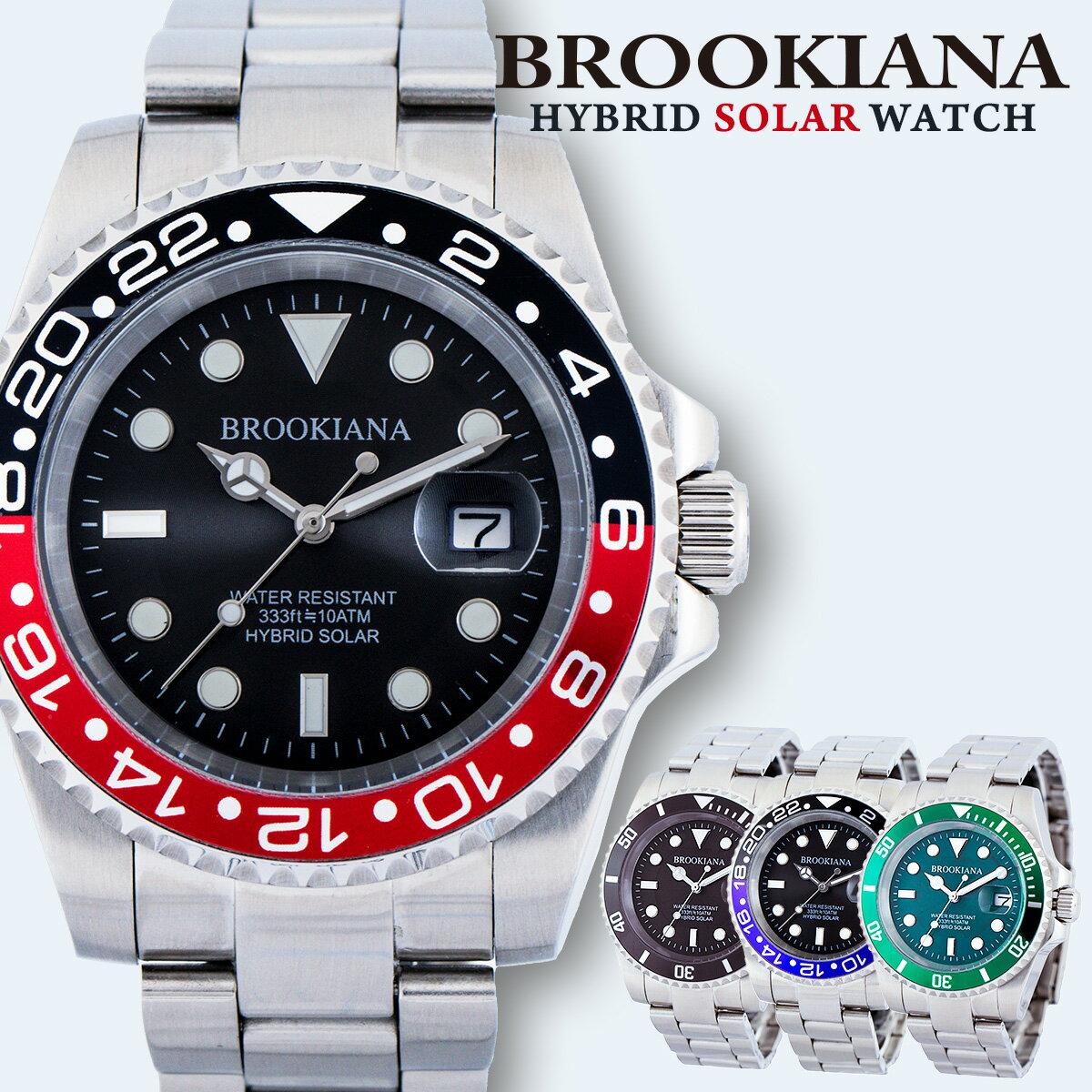 ブルッキアーナ BROOKIANA BA2606 ダイバー メンズ 時計 腕時計 ソーラー クォーツ 防水