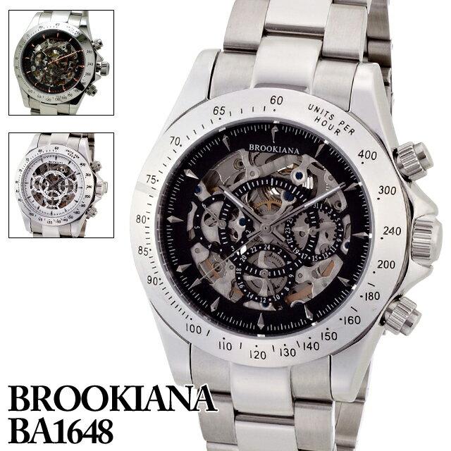 ブルッキアーナ BROOKIANA BA1648 メンズ 時計 腕時計 自動巻き オートマチック クロノグラフ