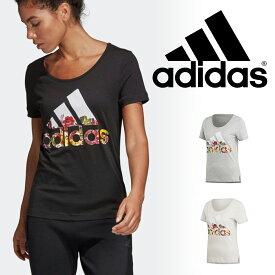 アディダス adidas レディース Tシャツ トップス 半袖 フラワー Tシャツ FSR83