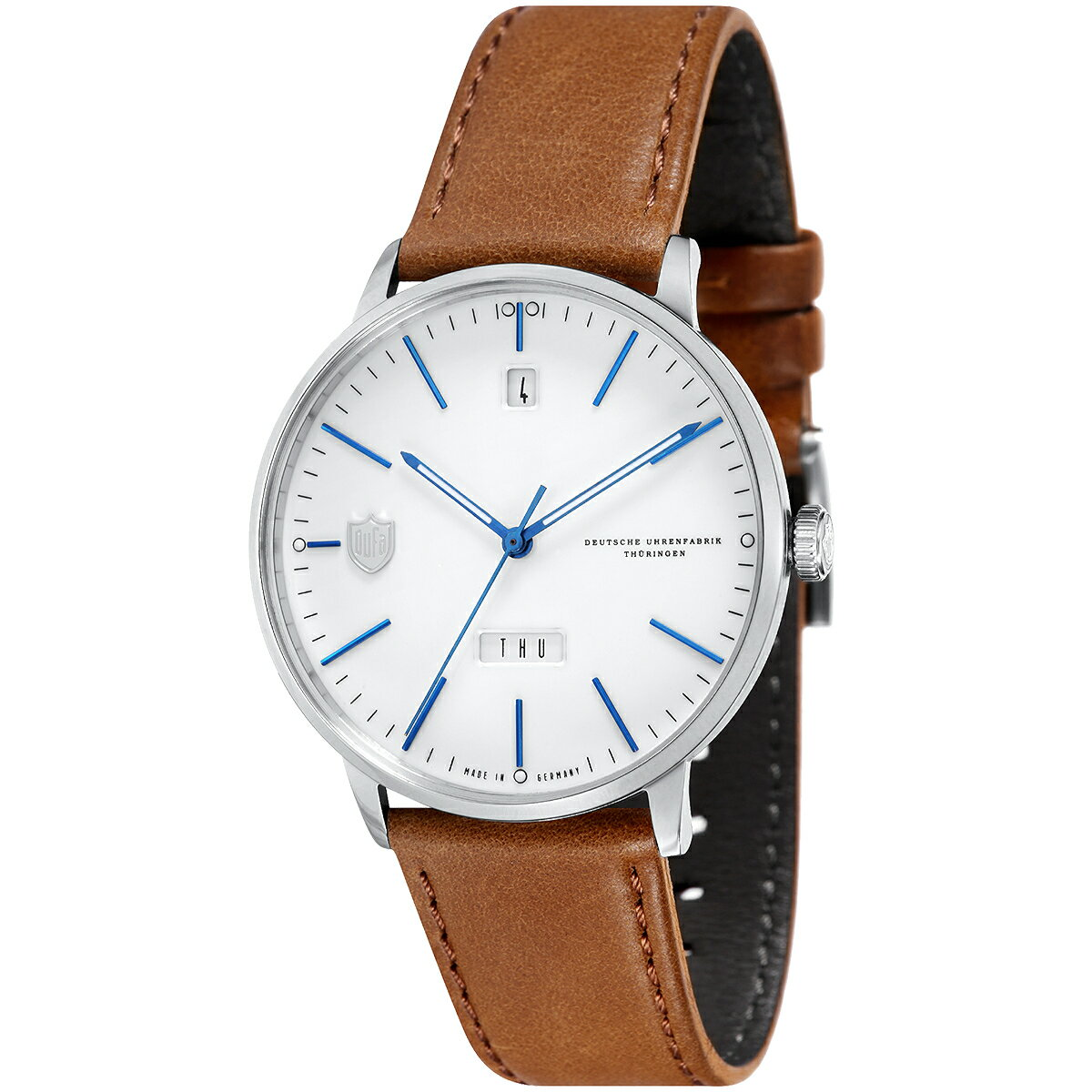 DUFA ドゥッファ DF-9018-04 HANNES DAY-DATE 時計 腕時計 メンズ レディース 男性 女性 ホワイト おしゃれ プレゼント 贈り物 ギフト ドイツ バウハウス [海外正規商品][送料無料][あす楽]