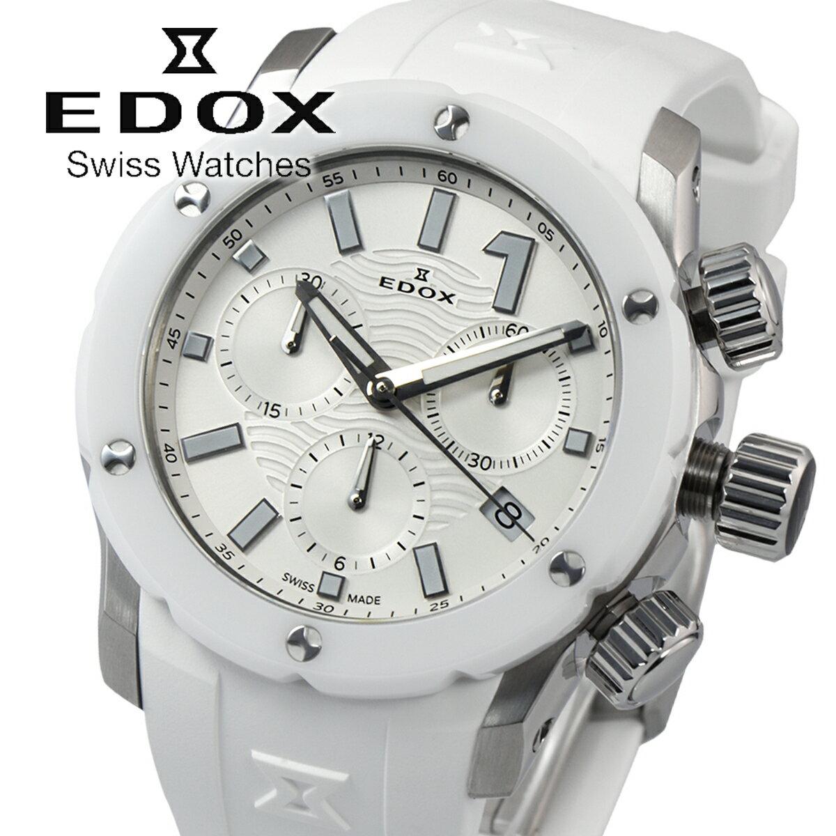エドックス EDOX CHRONOFFSHORE-1 10225 3B BIN レディース 時計 腕時計 クオーツ クロノグラフ