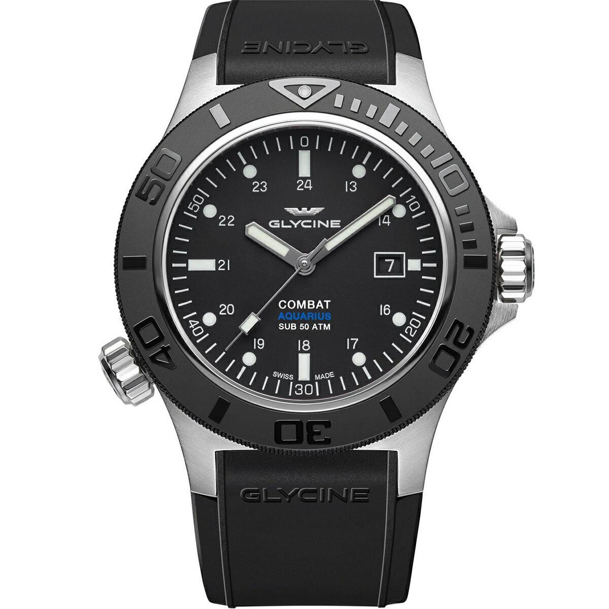 グライシン グリシン GLYCINE コンバット サブ アクエリアス COMBAT SUB AQUARIUS GL0039 メンズ 時計 腕時計 自動巻き オートマチック スイス製 スイスメイド ダイバーズ