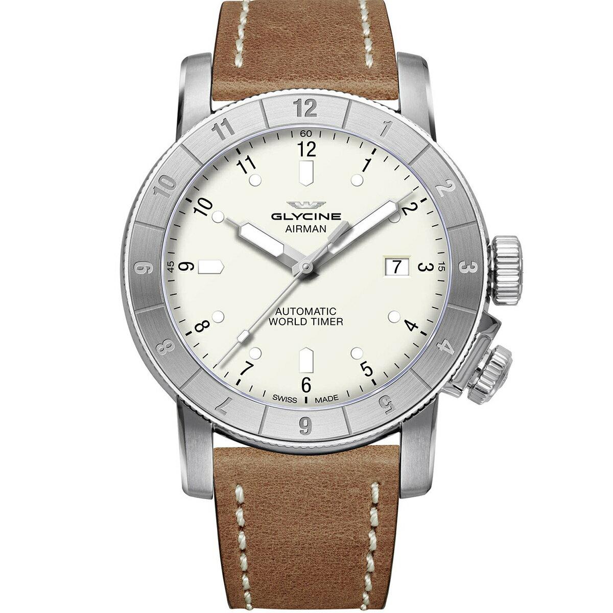 グライシン グリシン GLYCINE エアマン AIRMAN 42 DOUBLE TWELVE GL0061 メンズ 時計 腕時計 自動巻き オートマチック スイス製 スイスメイド ワールドタイム表示