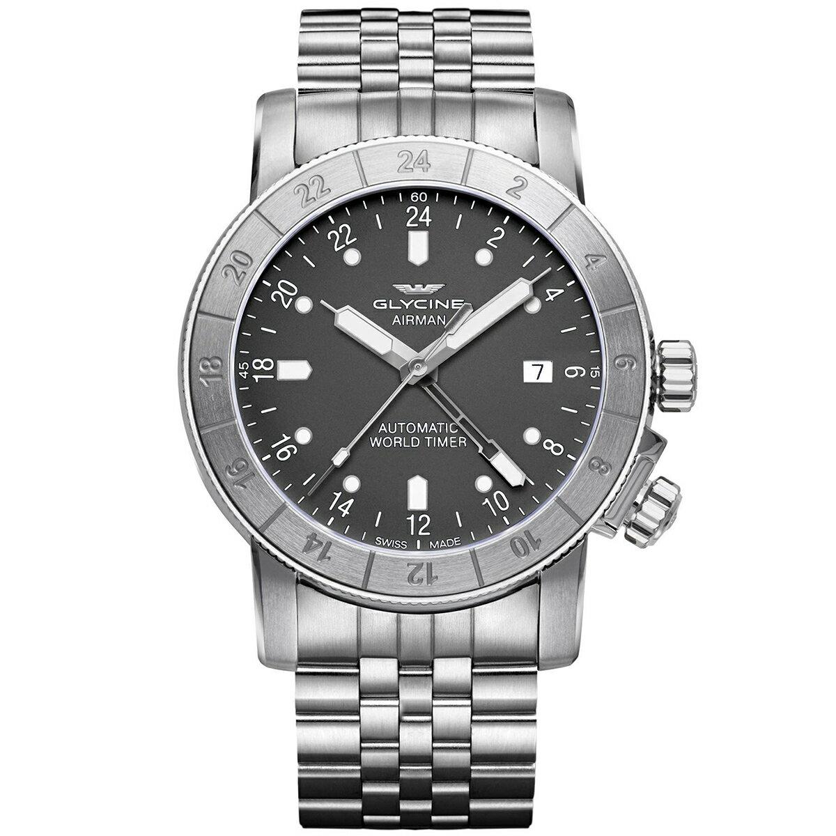 グライシン グリシン GLYCINE エアマン AIRMAN 42 GL0065 メンズ 時計 腕時計 自動巻き オートマチック スイス製 スイスメイド ワールドタイム表示