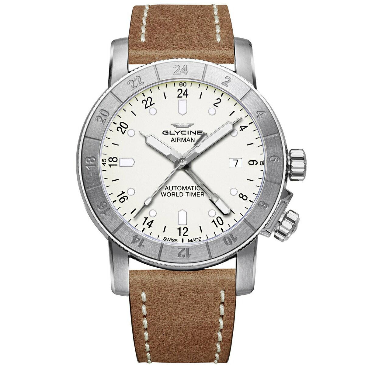 グライシン グリシン GLYCINE エアマン AIRMAN 42 GL0067 メンズ 時計 腕時計 自動巻き オートマチック スイス製 スイスメイド ワールドタイム表示